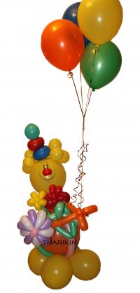 клоун из шаров доставка шаров, воздушные шары, шарики с гелием, воздушные шары, воздушные шары спб