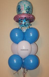 фонтан «выписка малыша» доставка шаров, воздушные шары, шарики с гелием, воздушные шары, воздушные шары спб