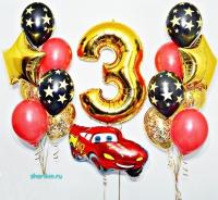 набор шаров «тачки 01» доставка шаров, воздушные шары, шарики с гелием, воздушные шары, воздушные шары спб