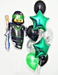 набор шаров «ниндзяго» доставка шаров, воздушные шары, шарики с гелием, воздушные шары, воздушные шары спб