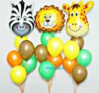 набор шаров «сафари» доставка шаров, воздушные шары, шарики с гелием, воздушные шары, воздушные шары спб
