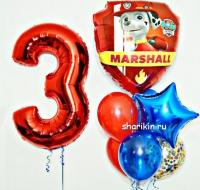 набор шаров «патруль» доставка шаров, воздушные шары, шарики с гелием, воздушные шары, воздушные шары спб