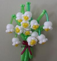 букет ландышей доставка шаров, воздушные шары, шарики с гелием, воздушные шары, воздушные шары спб