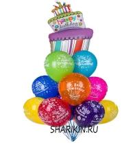 фонтан из шаров «воздушный торт 2» доставка шаров, воздушные шары, шарики с гелием, воздушные шары, воздушные шары спб