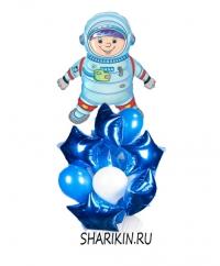 фонтан из шаров «космонавт» доставка шаров, воздушные шары, шарики с гелием, воздушные шары, воздушные шары спб