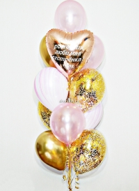 набор шаров «нежность» доставка шаров, воздушные шары, шарики с гелием, воздушные шары, воздушные шары спб