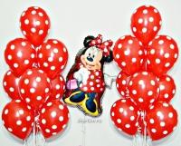 набор шаров «минни дисней» доставка шаров, воздушные шары, шарики с гелием, воздушные шары, воздушные шары спб