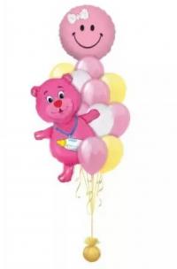 милой крохе доставка шаров, воздушные шары, шарики с гелием, воздушные шары, воздушные шары спб