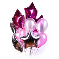 звёздный букет доставка шаров, воздушные шары, шарики с гелием, воздушные шары, воздушные шары спб