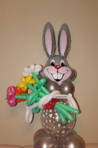 заяц с букетом доставка шаров, воздушные шары, шарики с гелием, воздушные шары, воздушные шары спб