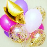 фонтан лиловый доставка шаров, воздушные шары, шарики с гелием, воздушные шары, воздушные шары спб