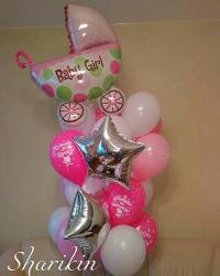 нежная выписка доставка шаров, воздушные шары, шарики с гелием, воздушные шары, воздушные шары спб