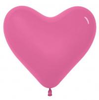 сердце фуксия доставка шаров, воздушные шары, шарики с гелием, воздушные шары, воздушные шары спб