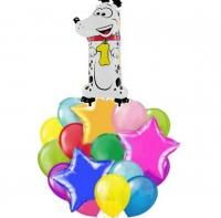 воздушный букет на годик доставка шаров, воздушные шары, шарики с гелием, воздушные шары, воздушные шары спб