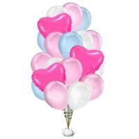 фонтан из шаров «очарование» доставка шаров, воздушные шары, шарики с гелием, воздушные шары, воздушные шары спб