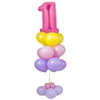 цифра на подставке доставка шаров, воздушные шары, шарики с гелием, воздушные шары, воздушные шары спб