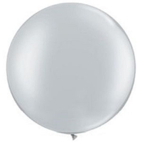 шар-гигант серебро воздушные шары, купить недорого