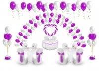 пакет свадебный стандарт 2 доставка шаров, воздушные шары, шарики с гелием, воздушные шары, воздушные шары спб