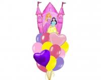 замок принцессы доставка шаров, воздушные шары, шарики с гелием, воздушные шары, воздушные шары спб