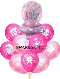 фонтан на выписку с соской доставка шаров, воздушные шары, шарики с гелием, воздушные шары, воздушные шары спб