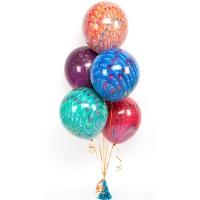 набор шаров «павлин» доставка шаров, воздушные шары, шарики с гелием, воздушные шары, воздушные шары спб