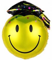 шар смайл выпускной доставка шаров, воздушные шары, шарики с гелием, воздушные шары, воздушные шары спб