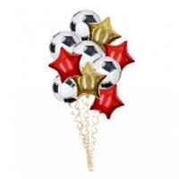футбольный набор доставка шаров, воздушные шары, шарики с гелием, воздушные шары, воздушные шары спб
