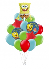 спонж боб доставка шаров, воздушные шары, шарики с гелием, воздушные шары, воздушные шары спб
