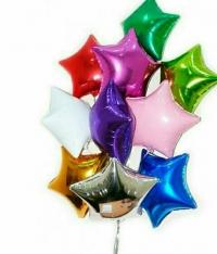фольгированные звезды доставка шаров, воздушные шары, шарики с гелием, воздушные шары, воздушные шары спб