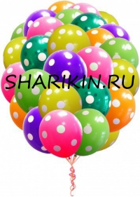 букет в горошек доставка шаров, воздушные шары, шарики с гелием, воздушные шары, воздушные шары спб