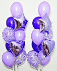 фонтан из  шаров «фиолетовый» доставка шаров, воздушные шары, шарики с гелием, воздушные шары, воздушные шары спб