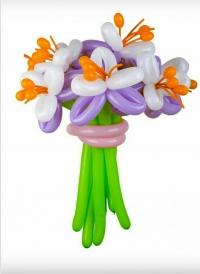 букет из цветов «фиолент» доставка шаров, воздушные шары, шарики с гелием, воздушные шары, воздушные шары спб