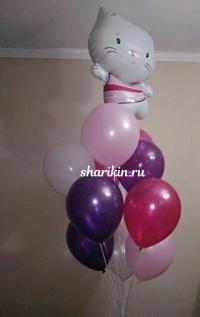 котёнок китти доставка шаров, воздушные шары, шарики с гелием, воздушные шары, воздушные шары спб
