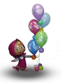 маша и медведь доставка шаров, воздушные шары, шарики с гелием, воздушные шары, воздушные шары спб
