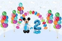 микки маус и фонтаны доставка шаров, воздушные шары, шарики с гелием, воздушные шары, воздушные шары спб