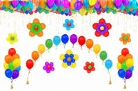 оформление детского сада цветы и фонтаны воздушные шары, купить недорого