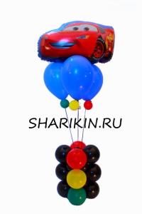 фонтан «тачки 2» доставка шаров, воздушные шары, шарики с гелием, воздушные шары, воздушные шары спб