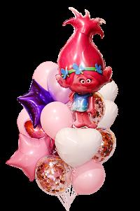тролль «розочка» доставка шаров, воздушные шары, шарики с гелием, воздушные шары, воздушные шары спб