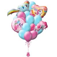 сказочные пони доставка шаров, воздушные шары, шарики с гелием, воздушные шары, воздушные шары спб