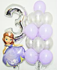 набор шаров «принцесса софи» доставка шаров, воздушные шары, шарики с гелием, воздушные шары, воздушные шары спб