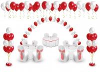 свадебный пакет мини 2 доставка шаров, воздушные шары, шарики с гелием, воздушные шары, воздушные шары спб