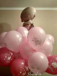 фонтан на выписку «малыш» мальчик доставка шаров, воздушные шары, шарики с гелием, воздушные шары, воздушные шары спб