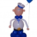 фигура из шаров «солдат» доставка шаров, воздушные шары, шарики с гелием, воздушные шары, воздушные шары спб