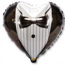 шар сердце «жених/невеста» доставка шаров, воздушные шары, шарики с гелием, воздушные шары, воздушные шары спб