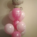 фонтан на выписку «малыш» девочка доставка шаров, воздушные шары, шарики с гелием, воздушные шары, воздушные шары спб