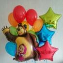 «маша и мишка» набор из шаров доставка шаров, воздушные шары, шарики с гелием, воздушные шары, воздушные шары спб