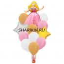 фонтан принцесса доставка шаров, воздушные шары, шарики с гелием, воздушные шары, воздушные шары спб