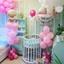 шар на выписку «девочка» доставка шаров, воздушные шары, шарики с гелием, воздушные шары, воздушные шары спб