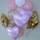 фонтан из шаров «леди» доставка шаров, воздушные шары, шарики с гелием, воздушные шары, воздушные шары спб