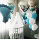 шар на выписку «мальчик» доставка шаров, воздушные шары, шарики с гелием, воздушные шары, воздушные шары спб